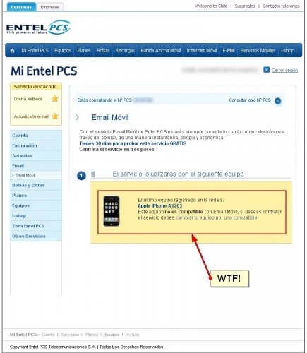 iPhone sin mail... por EntelPCS (full)